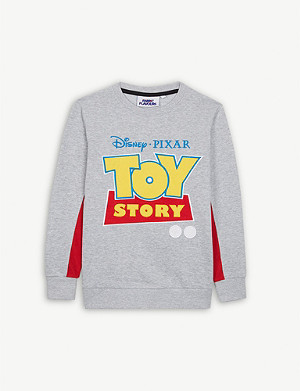 FABRIC FLAVOURS Toy Story logo cotton-blend jumper 3-10 years