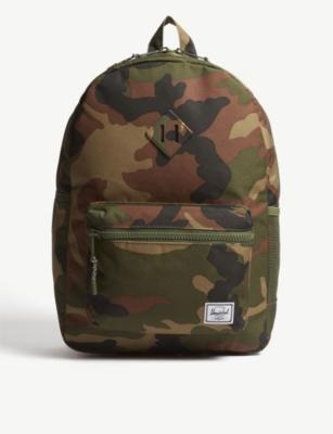 HERSCHEL SUPPLY CO Heritage Youth XL camouflage-print shell backpack