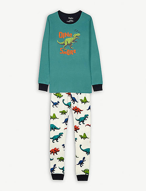 HATLEY Dino-Snore organic cotton pyjamas 4-10 years