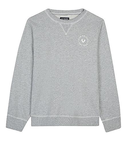 0e7fe4bdf TRUE RELIGION - French Terry cotton sweater | Selfridges.com