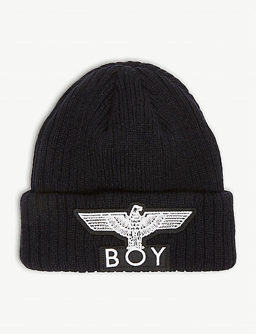 f23e13749d1 BOY LONDON Eagle logo beanie