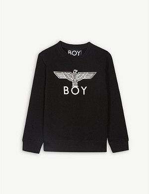 BOY LONDON Eagle logo cotton sweatshirt 3-16 years