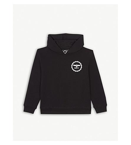 f61cd0680770 BOY LONDON Logo cotton-blend hoody 3-16 years (Black white