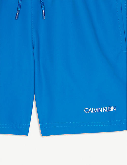 CALVIN KLEIN Logo waistband swim shorts 8-16 years