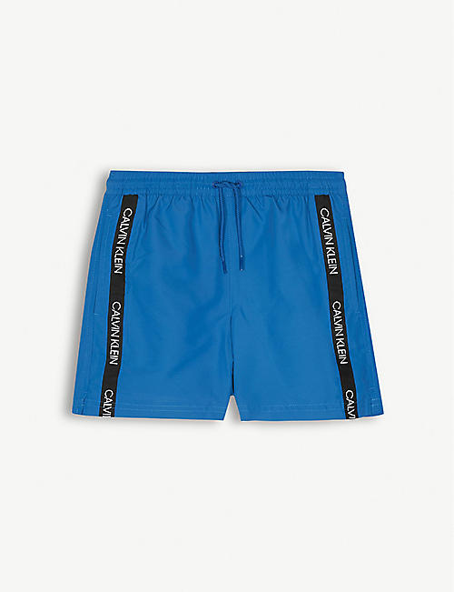 CALVIN KLEIN Logo tape swim shorts 8-16 years