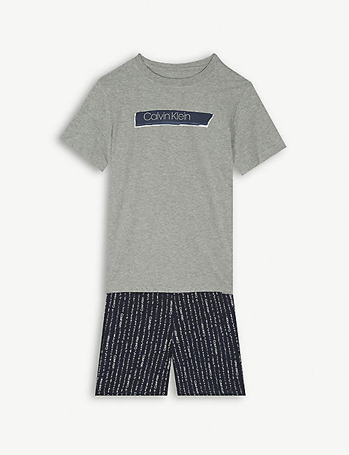 a23cc5e99 CALVIN KLEIN Logo print cotton pyjama set 8-16 years