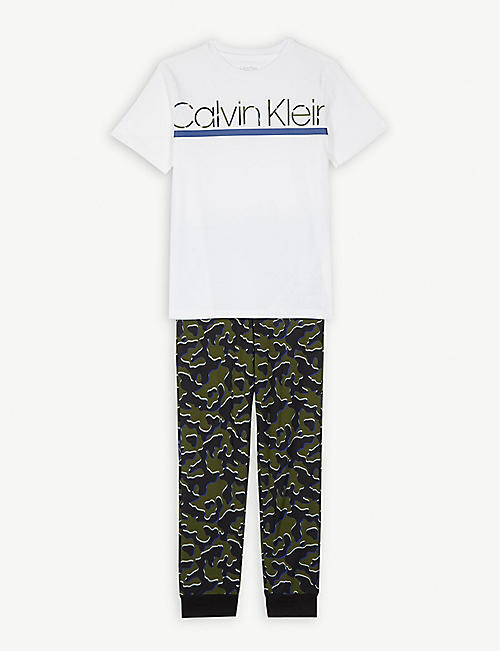 1d6db1cdf CALVIN KLEIN Camo print cotton pyjamas 4-16 years