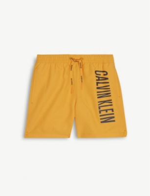 CALVIN KLEIN Side logo swim shorts 8-16 years