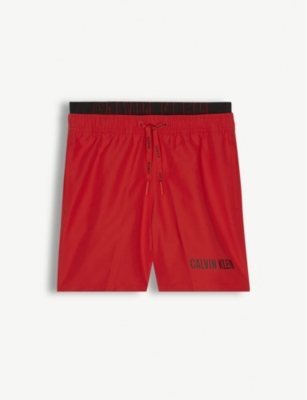CALVIN KLEIN Logo print swim shorts 8-16 years