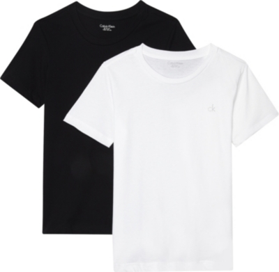 CALVIN KLEIN Logo cotton T-shirts pack of two