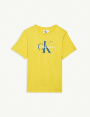 CALVIN KLEIN JEANS Monogram logo cotton T-shirt 4-16 years