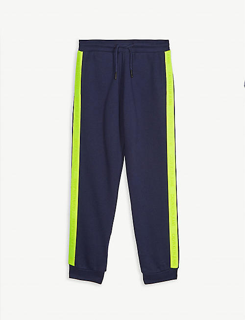 CALVIN KLEIN JEANS Neon tape cotton joggers 4-16 years