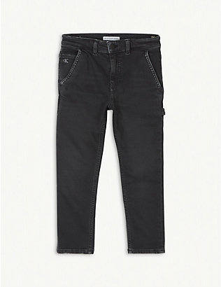 CALVIN KLEIN JEANS: Mid-rise cotton Carpenter jeans 4-16 years