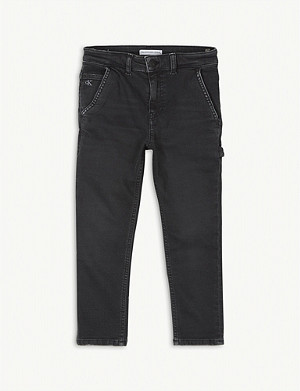 CALVIN KLEIN JEANS Mid-rise cotton Carpenter jeans 4-16 years
