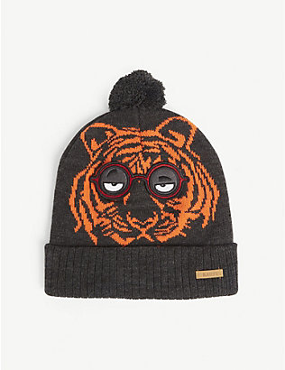 BARTS AL: Canute tiger-print woven beanie