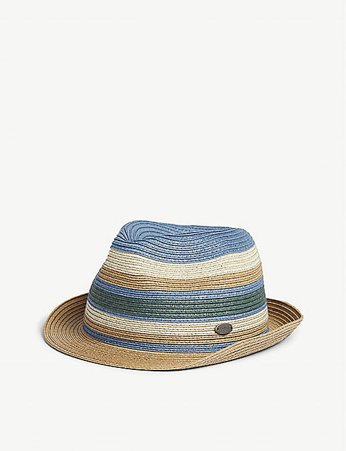 BARTS AL Antado striped straw hat