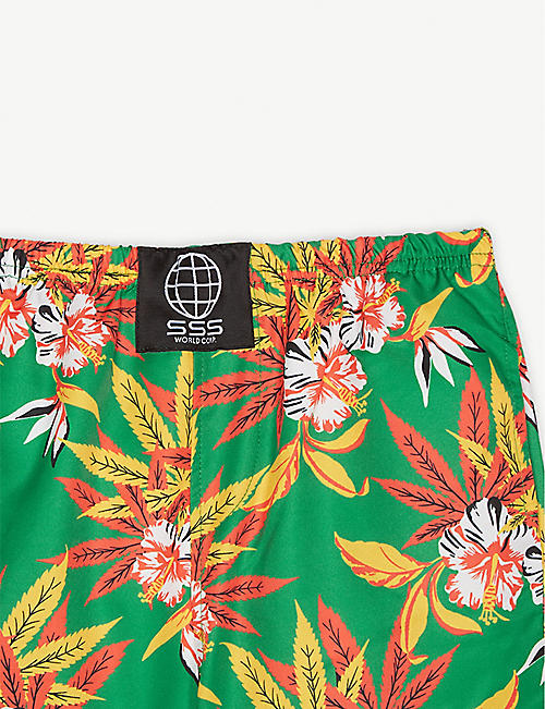 SSS WORLD CORP Hawaiian quick-dry swim shorts 4-8 years