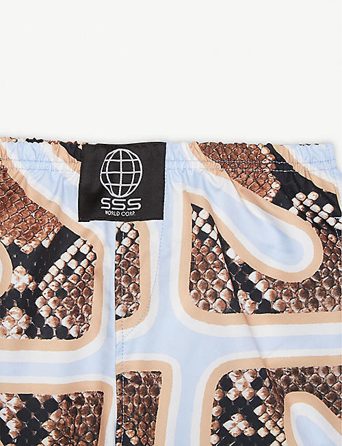 SSS WORLD CORP Snake print quick-drying swim shorts 4-8 years