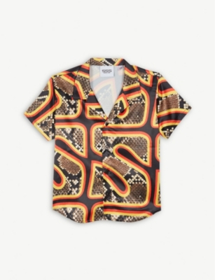 SSS WORLD CORP Snake print Hawaiian shirt 4-8 years