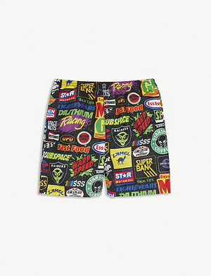 SSS WORLD CORP Space print swim shorts 3-16 years