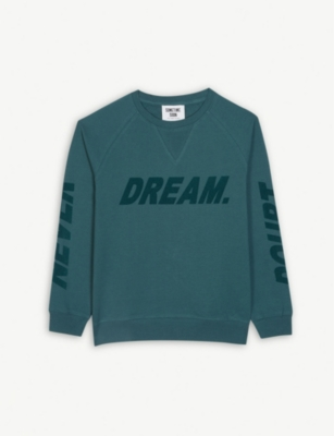 SOMETIME SOON Dream felt logo cotton sweatshirt 4-14 years