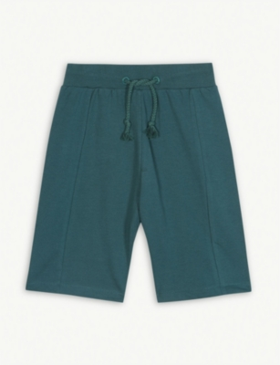 SOMETIME SOON Marled cotton jersey sweat shorts 4-14 years