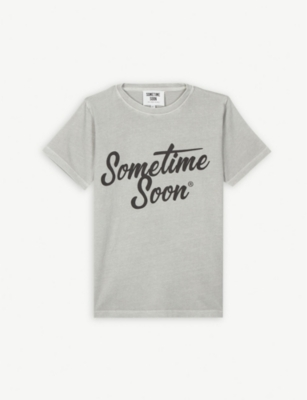 SOMETIME SOON Heat reactive logo T-shirt 4-14 years