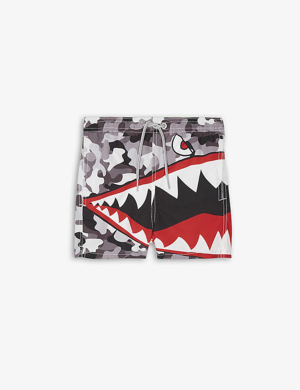 01a1c7a1aa MC2 SAINT BARTH - Shark camo print swim shorts 4-10 years ...