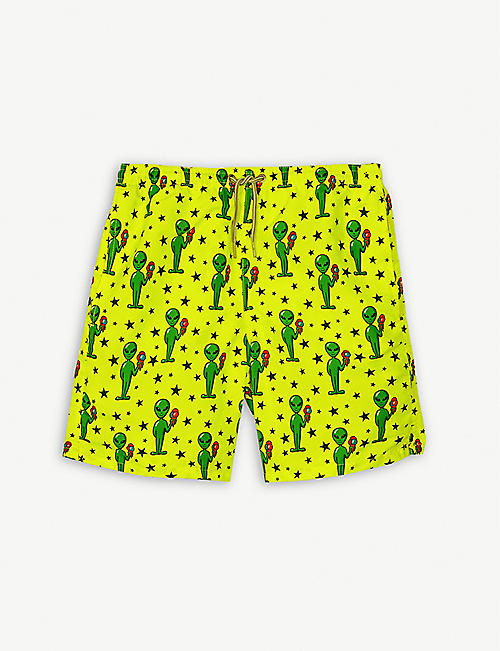 MC2 SAINT BARTH Alien print swim shorts 4-16 years