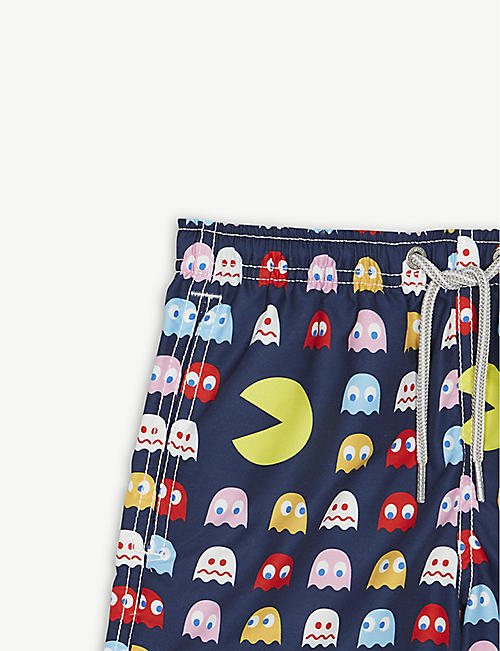 MC2 SAINT BARTH Pac-Man drawstring swim shorts 4-16 years