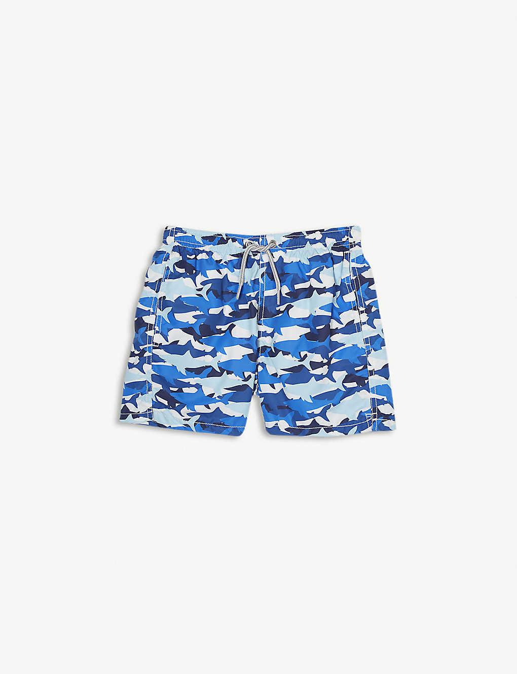 afdd50cc35d90 MC2 SAINT BARTH - Shark-print swim shorts 4-16 years | Selfridges.com