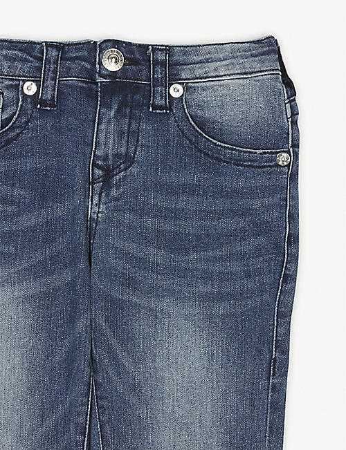 TRUE RELIGION Rocco distressed cotton-blend denim jeans 4-16 years