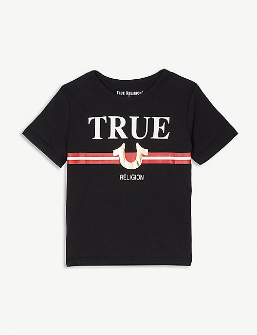 TRUE RELIGION True fake logo cotton T-shirt 4-14 years