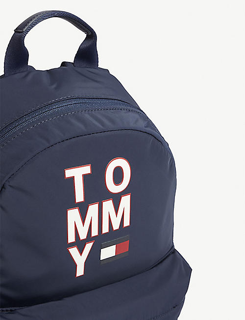 TOMMY HILFIGER Tommy logo print woven backpack
