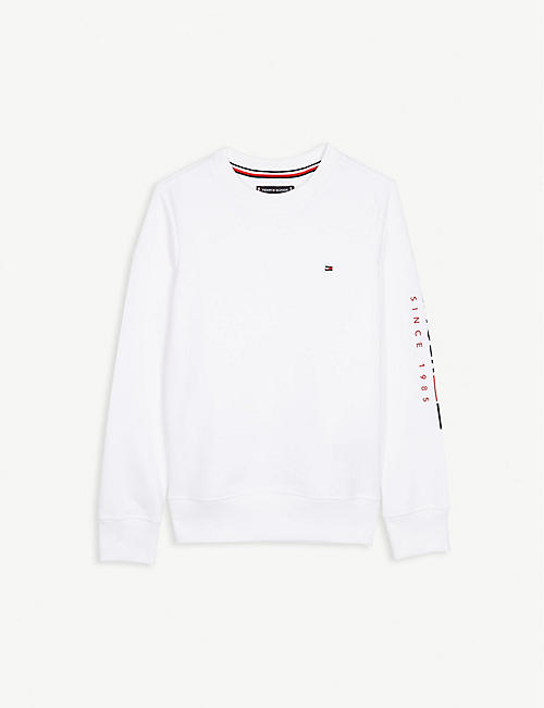 TOMMY HILFIGER Logo cotton sweater 4-14 years
