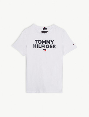 TOMMY HILFIGER Logo cotton T-shirt 4-14 years