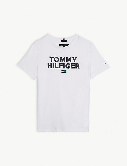 d0b126cb012138 TOMMY HILFIGER Logo cotton T-shirt 4-14 years