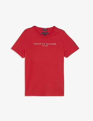 TOMMY HILFIGER Cotton logo T-shirt 4-16 years