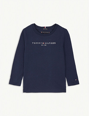 TOMMY HILFIGER Logo long sleeve cotton top 4-16 years