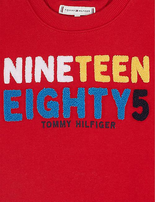 bbafa2ab36b TOMMY HILFIGER Textured logo cotton crew sweatshirt 4-16 years