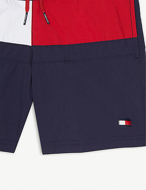 TOMMY HILFIGER Colour-block swim shorts 4-16 years