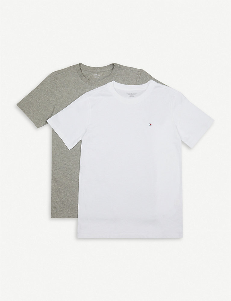 6eee5f962552bf TOMMY HILFIGER - Icon cotton T-shirt pack of two 4-16 years ...