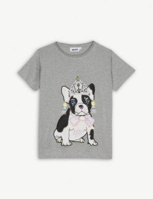 MOLO Bulldog applique T-shirt 4-14 years