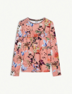 MOLO Floral-print cotton-blend top 4-14 years