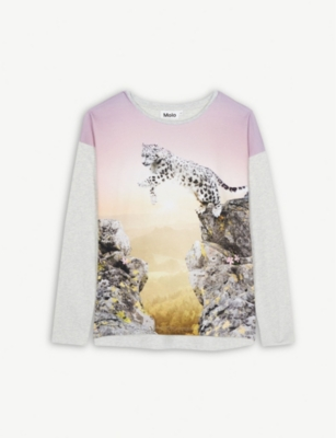 MOLO Long sleeve cotton-blend T-shirt 4-14 years