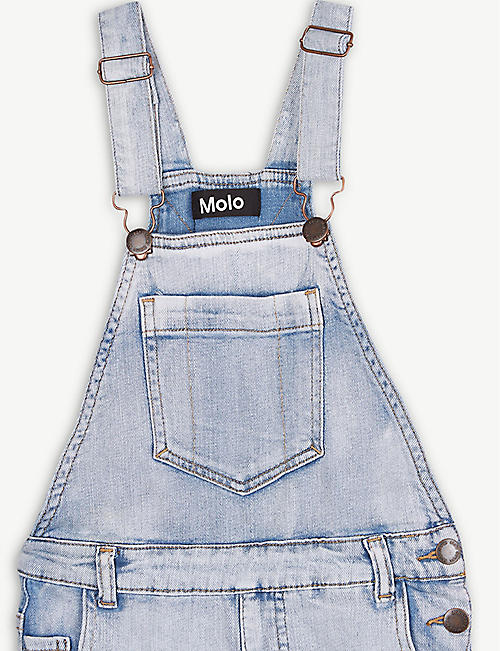 MOLO Acid wash cotton-blend dungarees 3-16 years