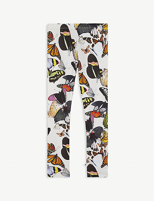 MOLO Butterfly print cotton-blend leggings 2-16 years