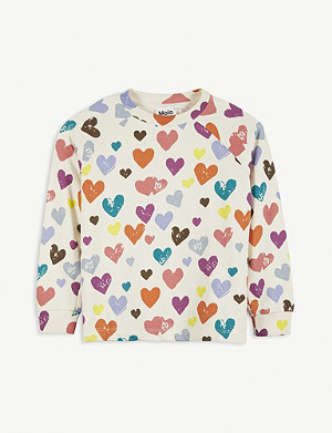 MOLO Mary heart print cotton jumper 4-14 years