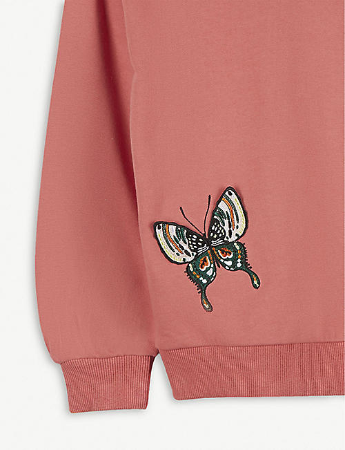 MOLO Malena butterfly appliqué cotton jumper 4-14 years