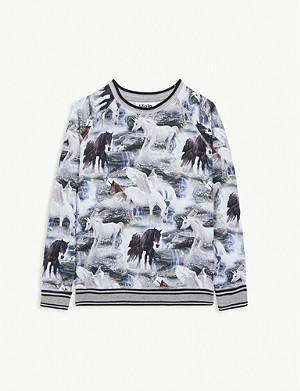 MOLO Mystical unicorn cotton-blend top 4-12